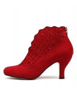 MAUDE RED MICROSUEDE