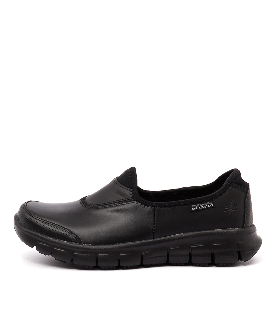 071133476ea63 76536 SURE TRACK BLACK BLACK LEATHER by SKECHERS - at Williams
