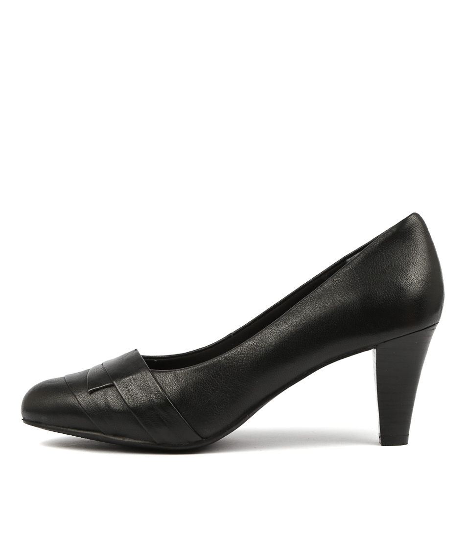 f8d11d450689 JANINA BLACK LEATHER by SUPERSOFT - at Williams