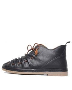 BERLIE IR BLACK LEATHER