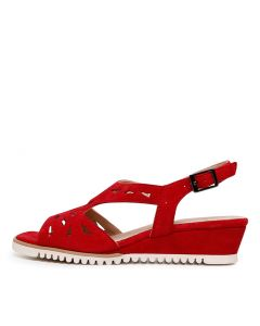 AMERIE RED SUEDE