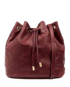 ROSIA BUCKET BAG IL DK RED SMOOTH